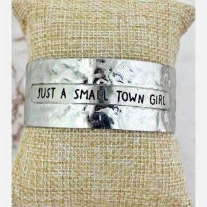 "Silvertone "" Small Town Girl"" Cuff Bracelet"